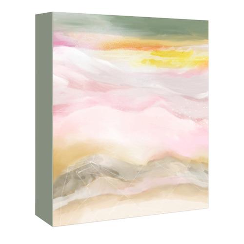 Americanflat Pink Mountains Printed Wall Art