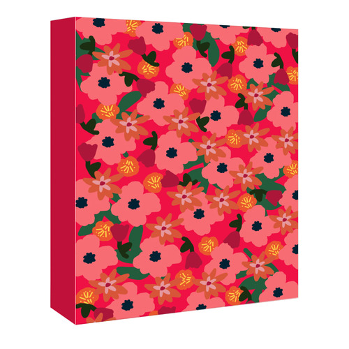 Americanflat Neon Floral Printed Wall Art