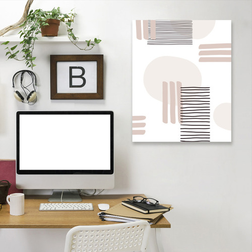 Americanflat Abstract Lines & Circles Printed Wall Art