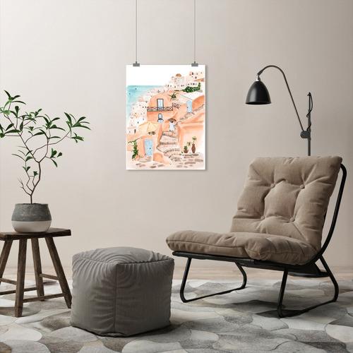 Santorini Printed Wall Art