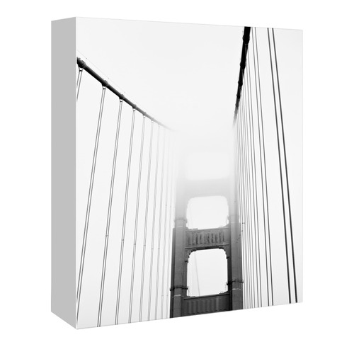 Americanflat Golden Gate Front In Black & White Printed Wall Art