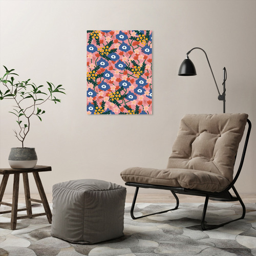 Americanflat Summer Floral Printed Wall Art