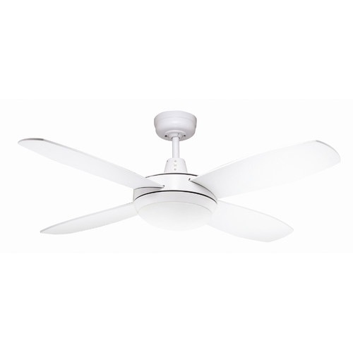 Lifestyle 107cm 42 Mini White Ceiling Fan With Light