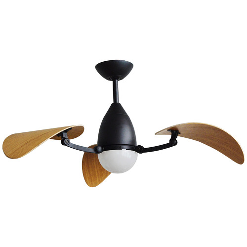 2 Tone Vampire Ceiling Fan with Tri-Colour LED
