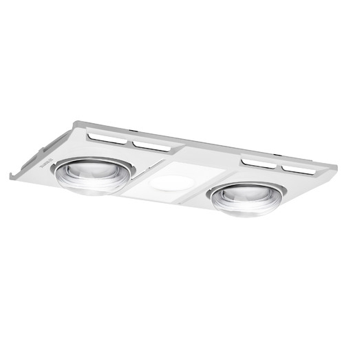 Sleek Bathroom Heater and Exhaust Fan in White with Light Kit