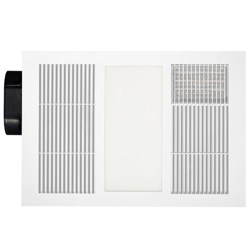 White Vapour Bathroom Fan Heater