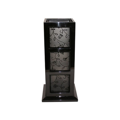 Rovan Atlas Table Lamp in Black and Flower Trim