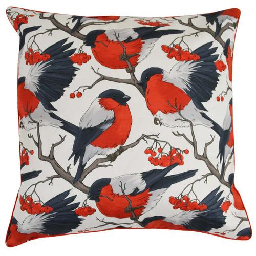 Rovan Red Robbins Cotton Cushion