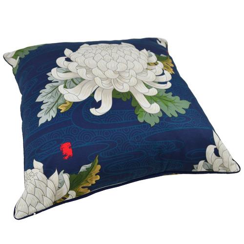 Rovan Blue Blossom Rotasu Cotton Cushion