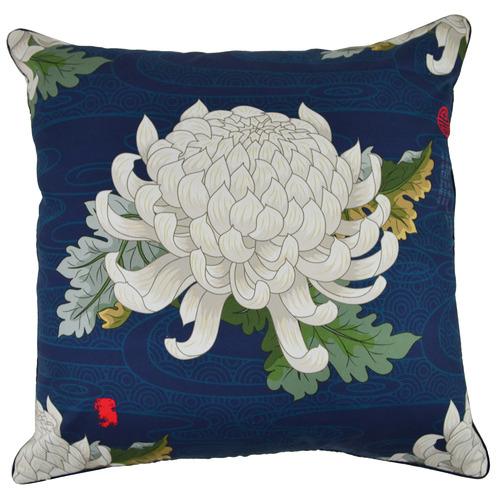 Blue Blossom Rotasu Cotton Cushion
