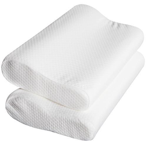 life set of 2 deluxe visco elastic memory foam contour pillow