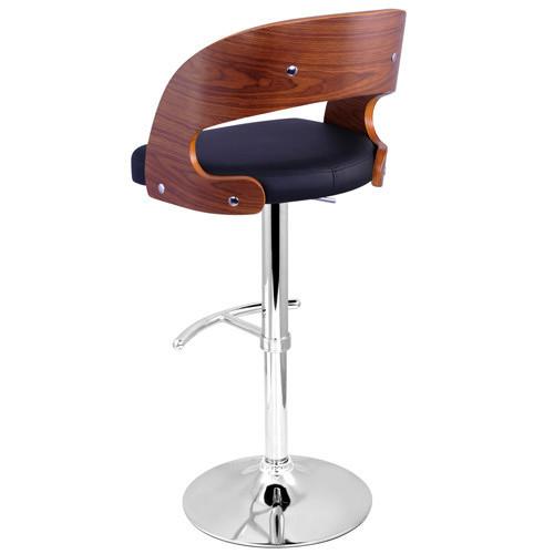 i.Life Merida Wood & PU Leather Modern Barstool