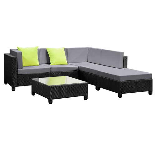 Rattan lounge set  6 Piece Outdoor PE Rattan Lounge Set | Temple & Webster