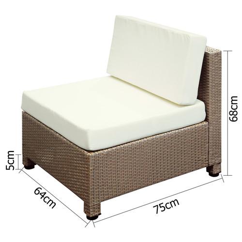 i.Life Hawaii 6 Seater PE Rattan Outdoor Lounge Set