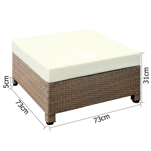 i.Life Byron 5 Seater Outdoor PE Rattan Lounge Set