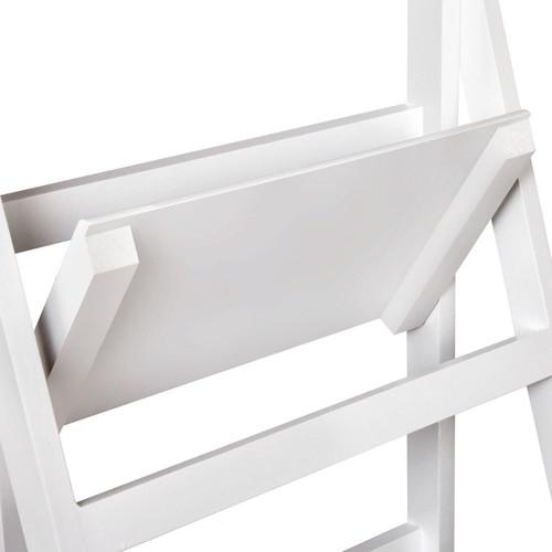 i.Life White Wooden Ladder Storage Display Shelf