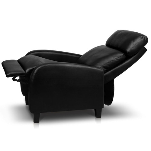 Life Black Carl Faux Leather Armchair Recliner