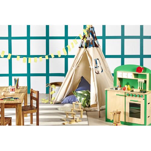 Kids Wooden 8 Piece Kitchen Play Set Temple Webster