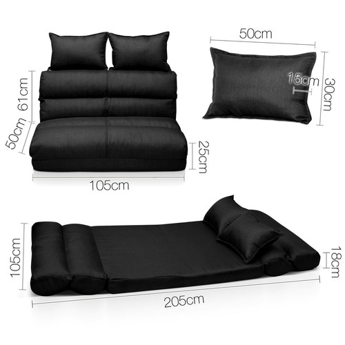 i.Life Double Size Adjustable Lounge Sofa