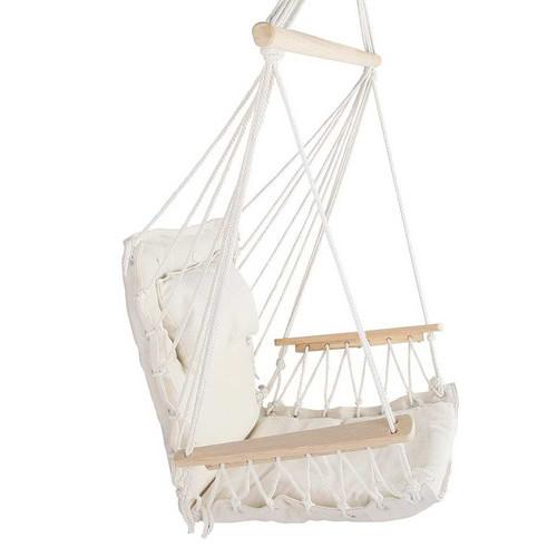 i.Life Cream Hammock Swing Chair