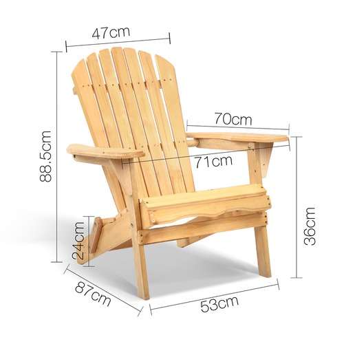 i.Life 2 Seater Wood Adirondack Chairs & Side Table Set