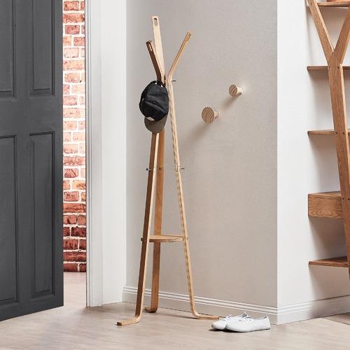 purse tree hat wooden coat base wood stand rack item hooks round jacket hall