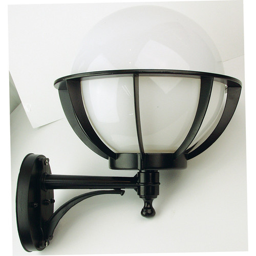 Oriel Lighting Olympus Outdoor Wall Bracket in Black / Opal