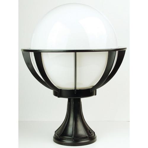 Oriel Lighting Olympus Newell Outdoor Light in Black / Opal