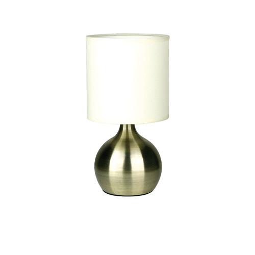 Zander Lighting Lotti Touch Lamp in Antique Brass