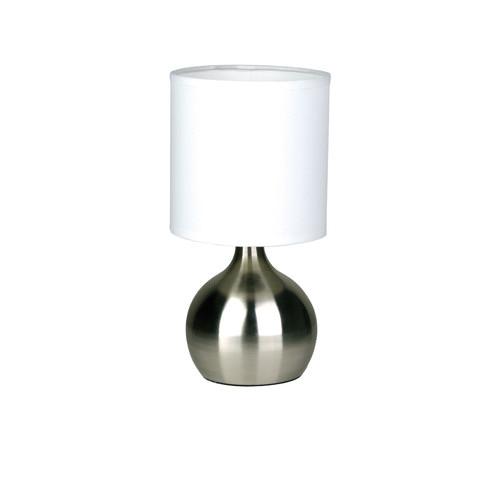 Zander Lighting Lotti Touch Lamp in Brushed Chrome