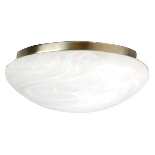 Zander Lighting Fan Light in Antique Brass/ Alabaster