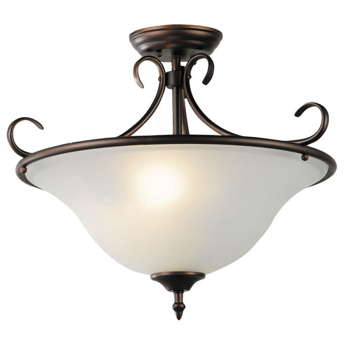 Illuminate Lighting Gaston 3 Light Semi-Flush Fitting Pendant in Bronze