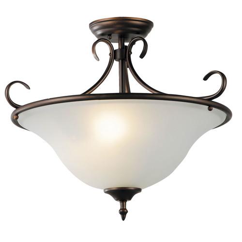 Zander Lighting Sciacca Glass Flush Mount Light