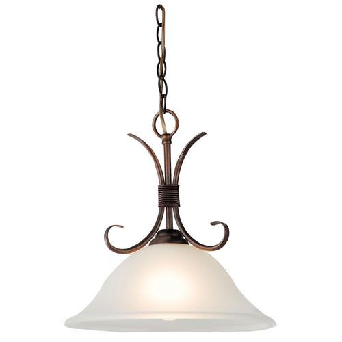 Oriel Lighting Gaston 1 Light Single Pendant in Bronze