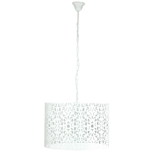 Illuminate Lighting Vicky 45 1 Light Pendant in Matt White Paint