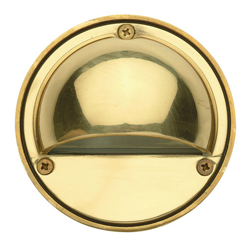 Oriel Lighting Luna Garden Eye Step Light in Solid Brass