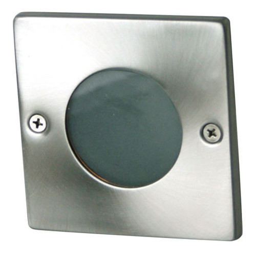 Oriel Lighting Rocco Square Recessed Light in Stainless Steel