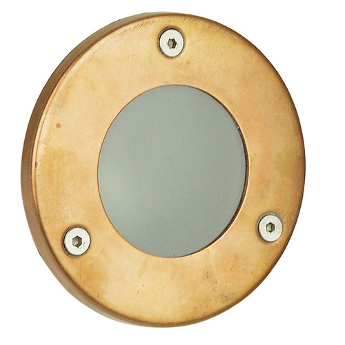 Oriel Lighting Rocco Plain LV Exterior Recessed Light in Copper