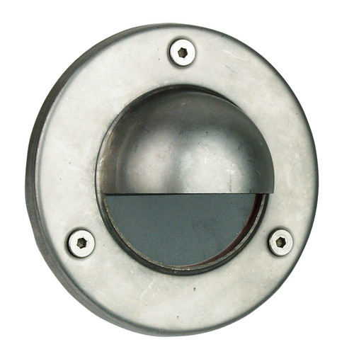 Oriel Lighting Rocco Hooded LV Exterior Recessed Light in Stainless Steel