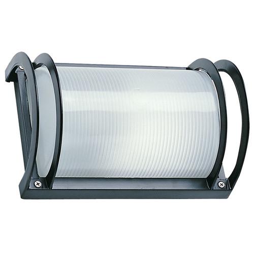 Oriel Lighting Cylinder Exterior Flush Wall Plain Light in Black