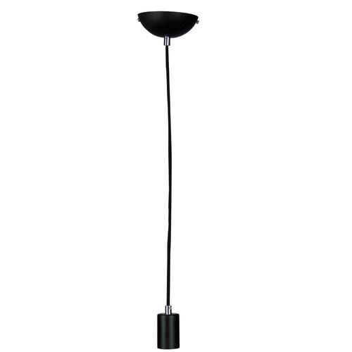 Zander Lighting Black Canosa 1 Light Metal Pendant