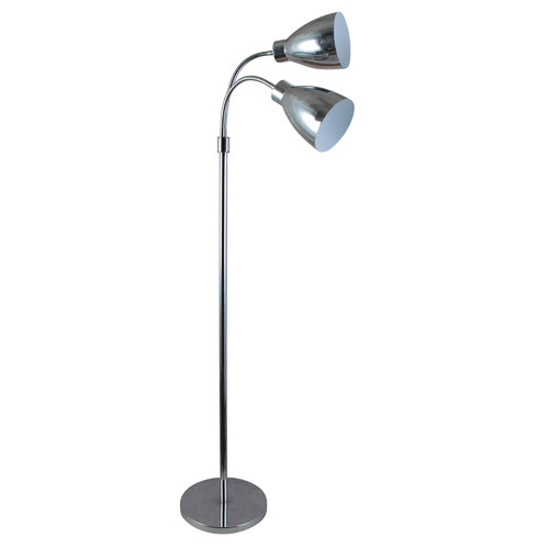 Zander Lighting Retro 2 Light Metal Floor Lamp