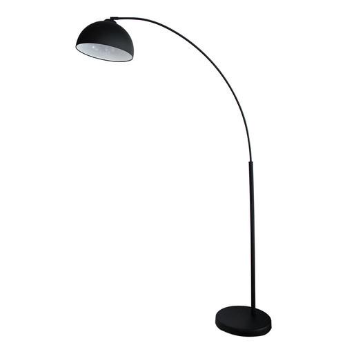 Oriel Dome ARC Floor Lamp in Black & Reviews | Temple & Webster