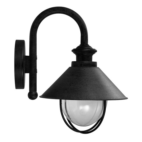Oriel Lighting Cosmo One Light Outdoor Wall Light in Black