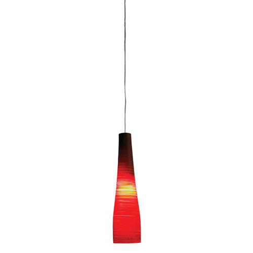 Illuminate Lighting Meri 1 Light Glass Pendant in Red
