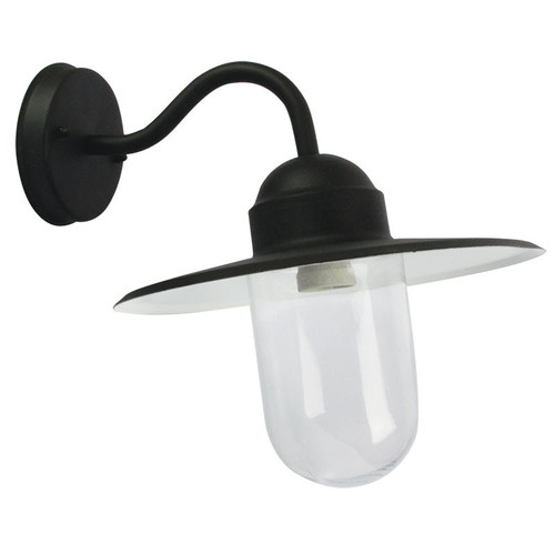 Oriel Lighting Alley One Light Outdoor Wall Light in Black