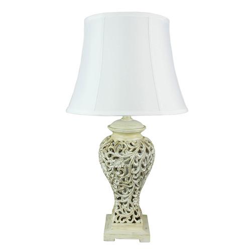 Zander Lighting White Bergamo Filigree Table Lamp