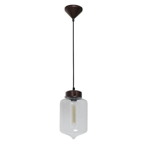 Oriel Lighting Narrow Droplet Industrial Glass & Metal Pendant Light