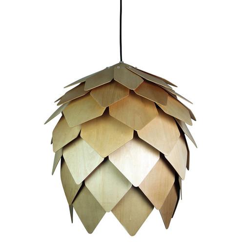 Oriel Lighting Acorn Natural Timber Pendant