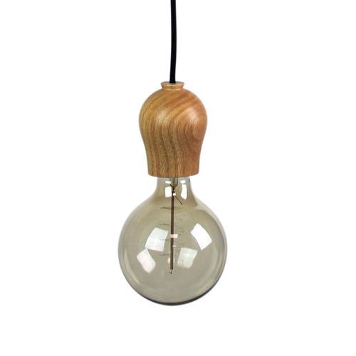 Zander Lighting Anagni Glass & Wood Pendant Light